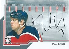 (HCW) 2013-14 ITG Decades 1990's PAUL LAUS Autograph Auto In The Game 01360