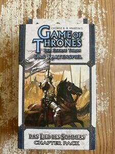 Game of Thrones Das Lied des Sommers Chapter Pack Trading Cards CCG TCG OVP