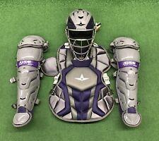 All Star System 7 Axis Intermediate 13-16 Catchers Gear Set - Graphite Purple