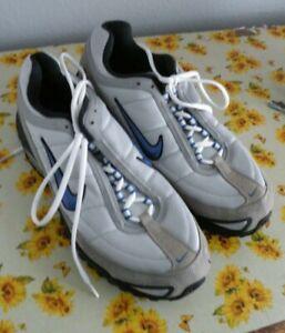 Nike Air Max 2007 TL4 Mens Sz 10.5 Gray Black Blue Running Training Shoes