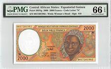 Central African States / Equ. Guinea 2000 P-503Ng PMG Gem UNC 66 EPQ 2000 Francs