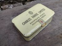 Collectable c1960's Vintage Charles Farris Ltd Hounslow - Tin with Hinged Lid