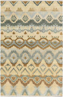 "Hand-knotted  5'11"" x 8'11"" Ikat Royale Transitional Wool Rug"