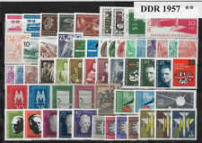 EAST GERMANY DDR 1957 COMPLETE YEAR STAMP COLLECTION Mint Never Hinged