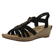 Wedge Leather Elastic Sandals & Flip Flops for Women