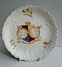 Rare Antique Allertons Queen Victoria 'Longest & Noblest Reign Plate 1897 Lovely