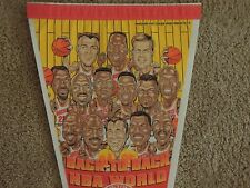 1994-95 Houston Rockets Basketball Back to Back Champs Full Size 30 Inch Pennant