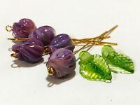 Handmade Lampwork Glass Beads From Murano Glass OOAK Tamara Yarilo Brand 7 Pcs