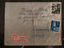 1941 Tarnow Poland Germany Ghetto Cover to Lucerne Switzerland Mosche Schmitz