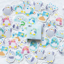 45pcs/set Kawaii Penguin Stickers Sticky Scrapbooking Paper For Diary Decoration