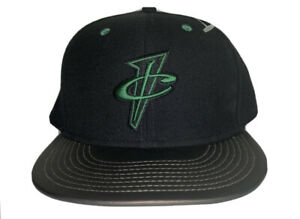 New Nike Penny Foamposite 7 1/2 Fitted Hat Black Pine Green Lil Cent-royal volt