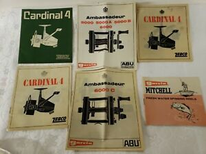 NUMEROUS FISHING  REEL (25)  INSTRUCTION MANUAL AND REEL PARTS LIST BOOKLETS VIN