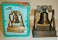 Vintage Die-Cast Metal Figural Liberty Bell Pencil Sharpener w/ Box No.8764 Used