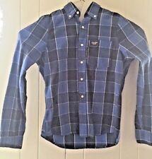 Hollister Men's Cotton L/S Blue & White Plaid Button Down  Dress Shirt size M