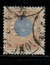 Sweden Sc 27 1872 1 rd numeral of value stamp used  Free Shipping