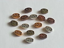 10MM Love Tibetan Antique Style Beads Oval Spacer Loose Bead Multi-Color 20PC.