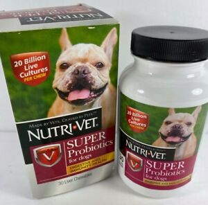 Nutri-Vet Super Probiotics Liver Chewables, 30 Count