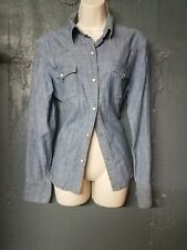 Womens Denim Gap Snapped Buttoned Shirt, Size L