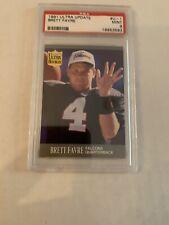 1991 Ultra Update Brett Favre RC PSA Mint 9 Football Card #U-1 NFL HOF