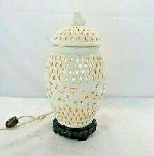 Pierced Covered Lantern URN LAMP Stone Vase MT