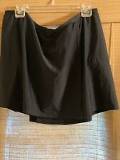Christina Swimwear Plus 2X Black Nylon Stretch Water Shorts Lined NWT