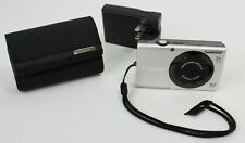 Canon PowerShot A3400 IS 16.0MP Digital Camera - Silver, case, charger, SD card
