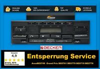 Radio Code Entsperrung Becker BE0749  Grand Prix BE0761 BE0779 BE0719 BE0778