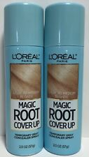 2 L'Oreal Paris Magic Root Cover Up Gray Concealer Spray Light to Medium Blonde