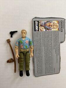 GI Joe Vintage 1987 Chuckles complete Original Accessories Hasbro Arah Lot File