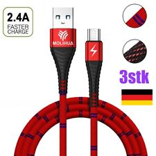 3x Micro USB Kabel Ladekabel SCHNELL Datenkabel Mikro - Samsung Handy Tablet PS4