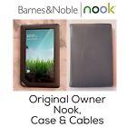 Barnes & Noble NOOK COLOR BNRV200 Touchscreen Tablet Reader Leather Case Lot