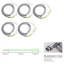 5x Cordone Turbina Dentista for LED Fiber Optic Handpiece Silicone 6 Hole Tube
