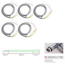 5x Cordone Turbina Dentista for LED Fiber Optic Handpiece Silicone 6 Hole Tube