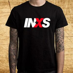 INXS Classic Logo Men's Black T-Shirt Size S M L XL 2XL 3XL
