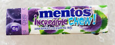 Mentos Incredible Chew Candy Chewy Fruity Bouncy - GRAPE Flavour 45g.