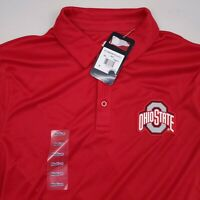 NEW Ohio State Buckeyes OSU Short Sleeve Polo Shirt Men's Size Medium Solid Red