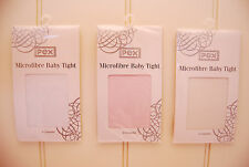 Party microfibre tights Pink, Ivory or White  Newborn up to 10 years BNIP