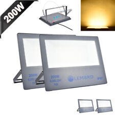 New listing 4 x 200W Led Flood Lights Warm White Lamp Outdoor Security Lighting Spot Lamp
