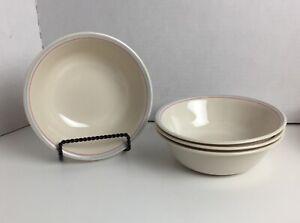 4 VTG Corelle Corning English Breakfast Pink Blue Floral Cereal Bowls (8 avb)