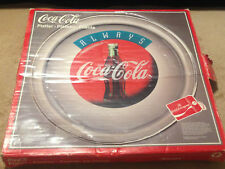 Vintage Coca-Cola Serving Glass Platter Dish - 13 inches - New Old Stock