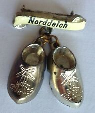 Norddeich Clogg Shoes North Germany Pin Badge Rare Vintage (F5)