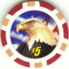 3 pc 3 colors AMERICAN BALD EAGLE poker chip samples set #193