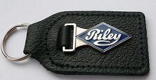 RILEY CAR ENAMEL BADGED LEATHER KEYRING, KEY CHAIN, KEY FOB
