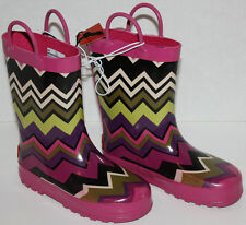 NWOB Girls Missoni For Target ZigZag Rain Boots Size L