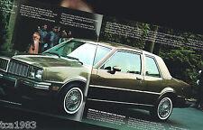 1982 Pontiac PHOENIX Brochure / Catalog / Flyer with Specifications: SJ, LJ,