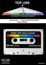Top Line Audio Cassette Tape Head Cleaner, Dry Non-Abrasive #101, BRAND NEW
