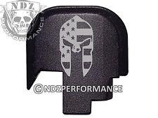 for Smith Wesson Rear Slide Back Plate SHIELD S&W 9 40 BLK Spartan Helmet Flag
