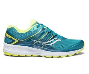 NEW Saucony Omni 16 teal citron S10370-4 womens stability running shoe MEDIUM