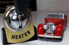 Classic vintage auto camion chauffage interrupteur laiton tag étiquette lucas RTC430 dash panel