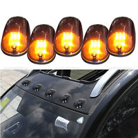 5X Smoked 9 LED Amber Cab Roof Running Marker Light Clearance Lamp for Truck SUV